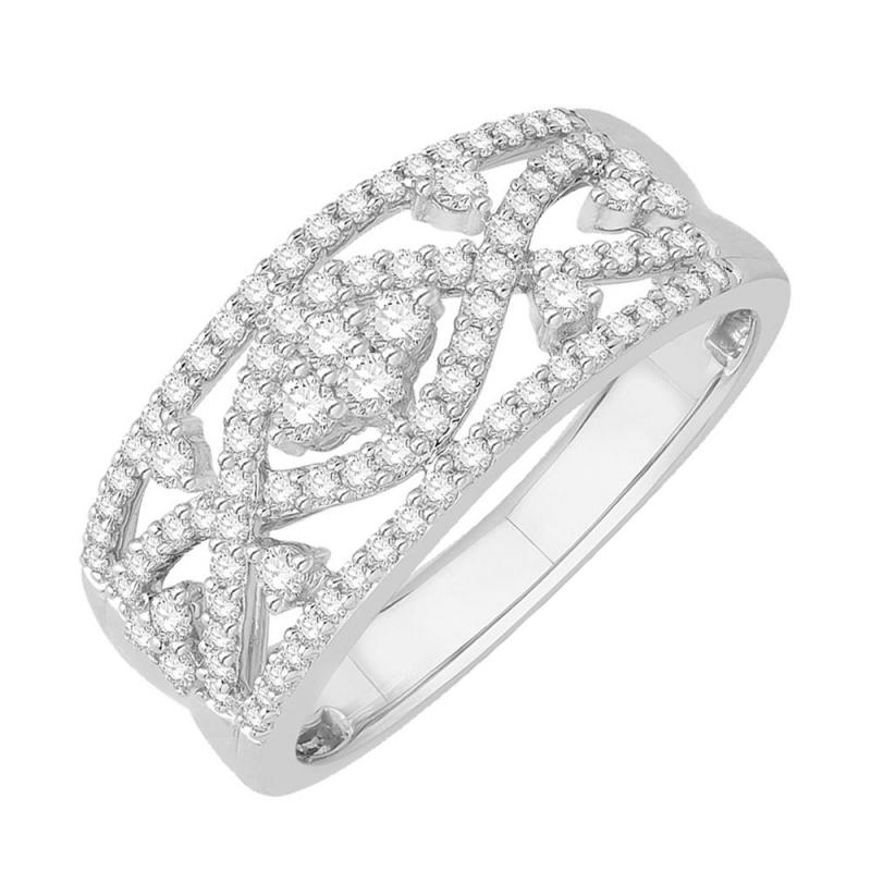18k White Gold Diamond Ring , Nordique