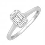 Agathe Bague Or blanc et diamants Diveene joaillerie