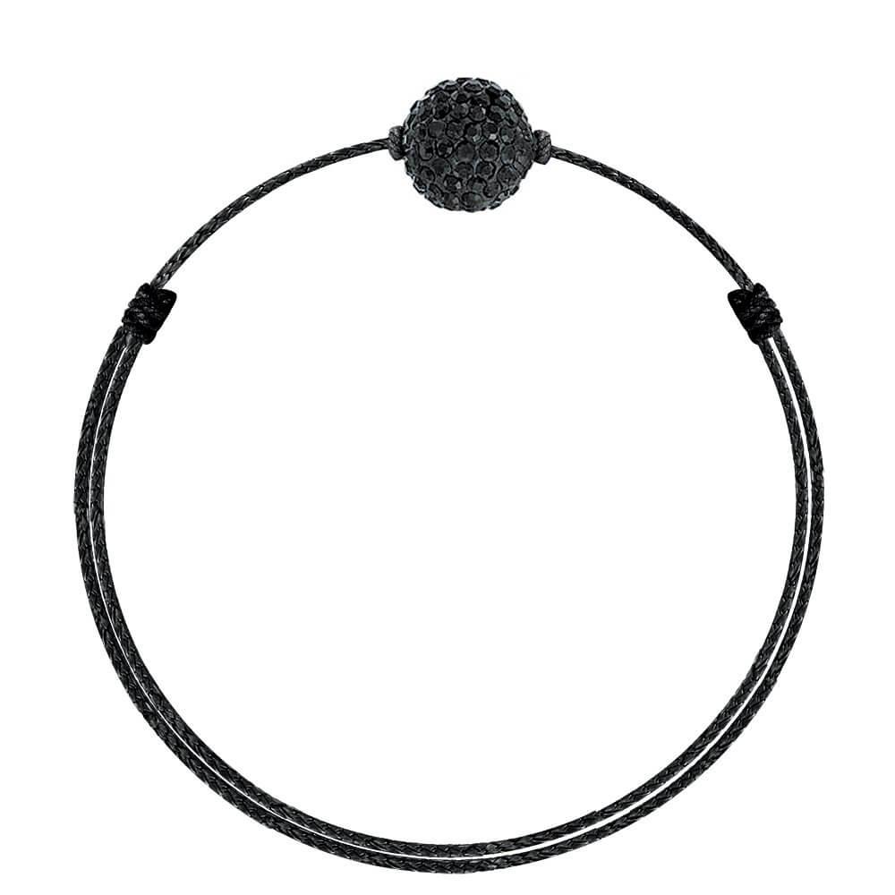 Crystal Glam Black on Black made with SWAROVSKI®ELEMENTS