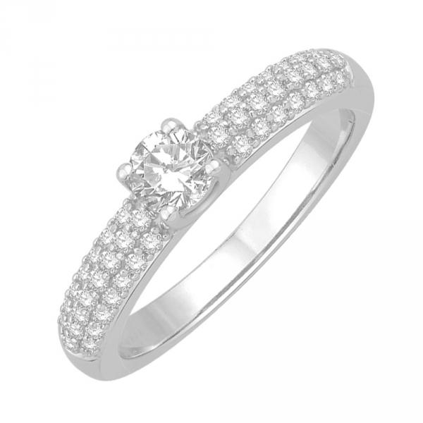 Olympe Solitaire en or blanc et Diamants Diveene Joaillerie