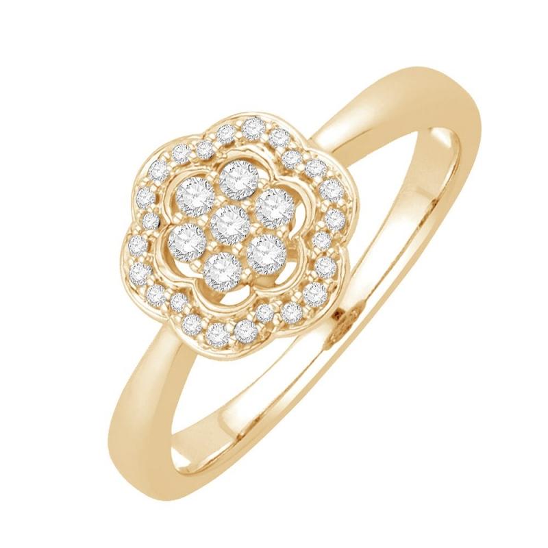 18k Yellow Gold Diamond Ring , Jaina