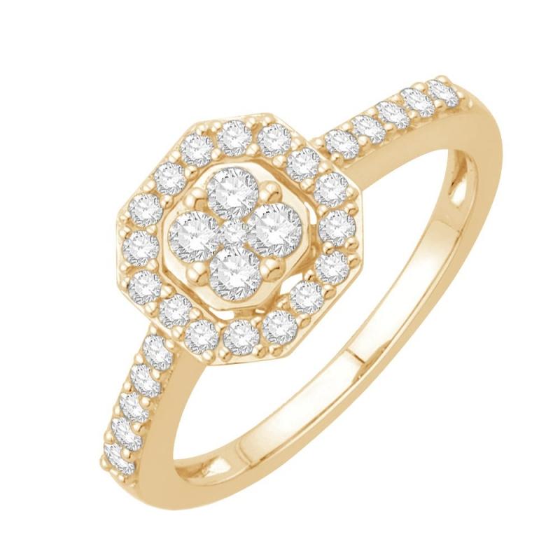 18k Yellow Gold Diamond Ring , Angèle