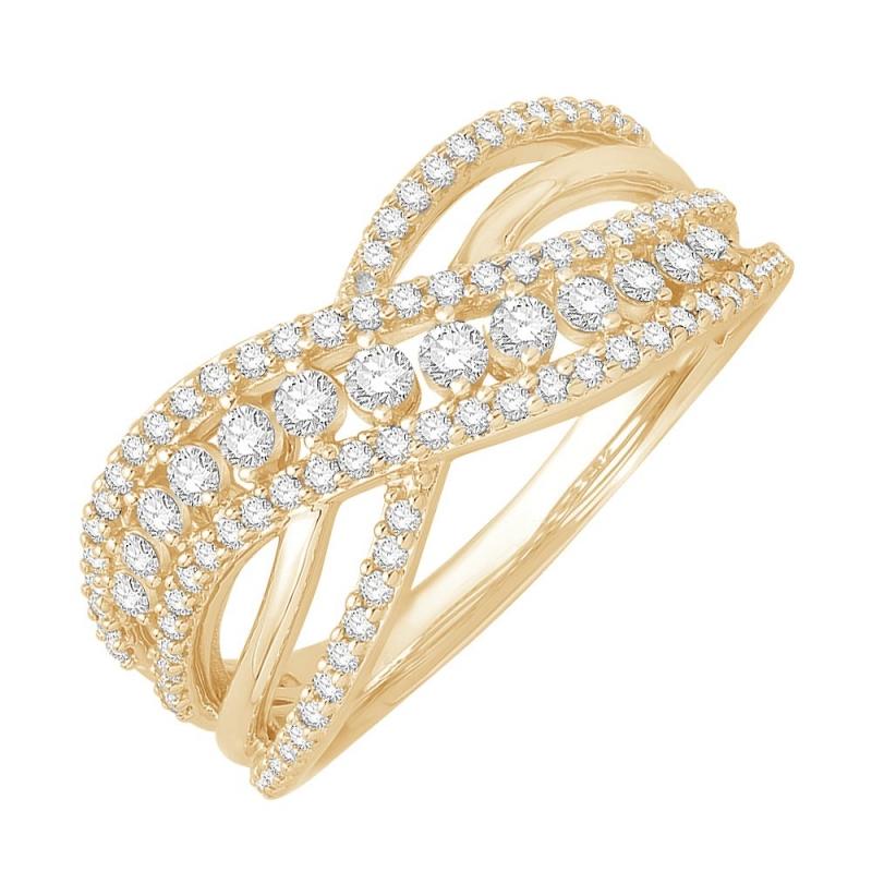 18k Yellow Gold Diamond Ring , Famosa