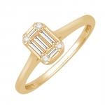 Agathe Bague Or jaune et diamants Diveene joaillerie