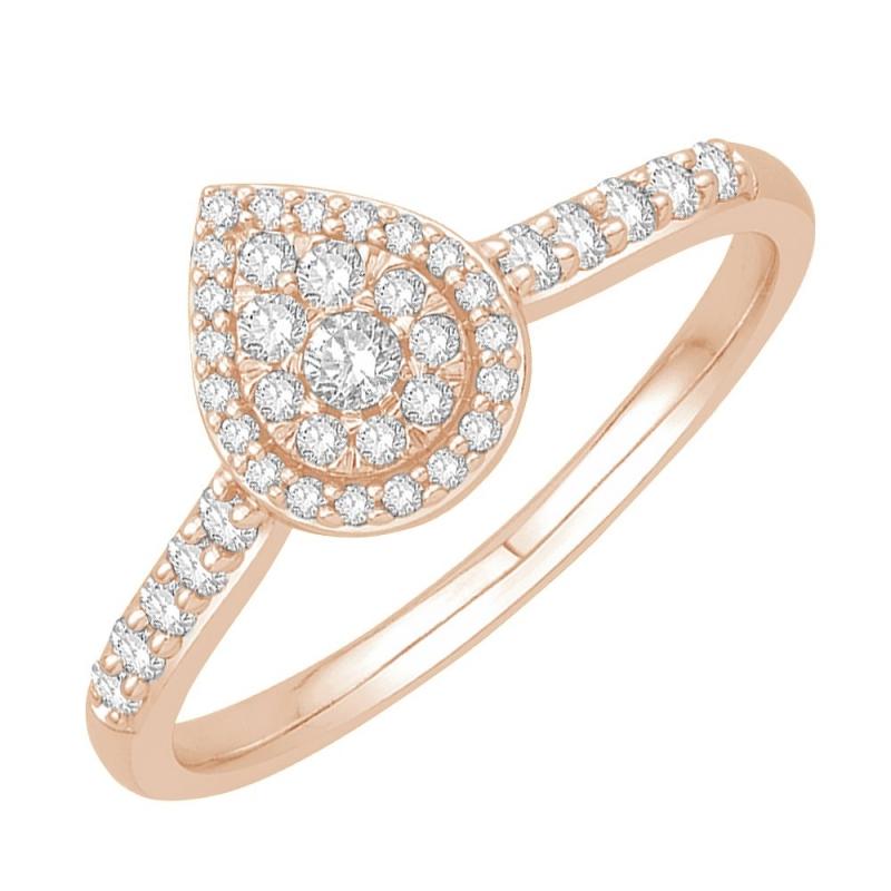 18k Rose Gold Diamond Ring , Wanda