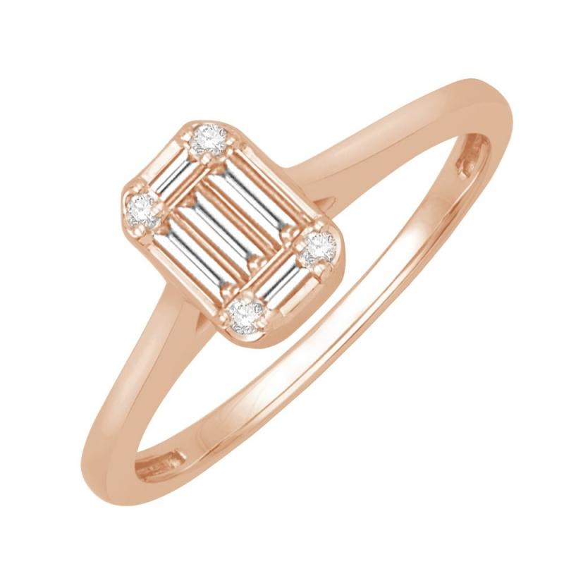 18k Rose Gold Diamond Ring , Agathe