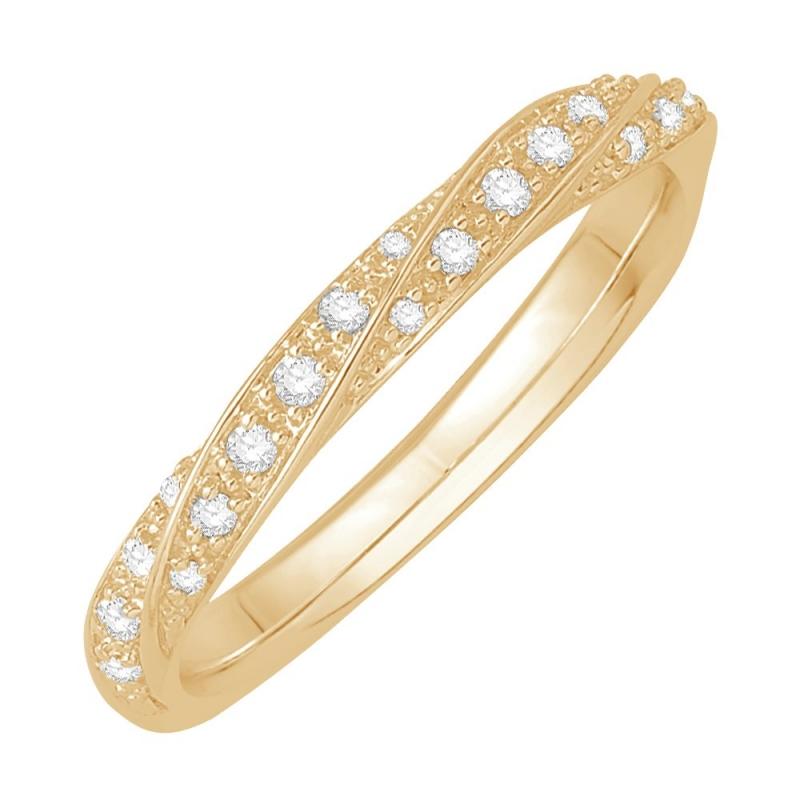 Bague alliance or jaune, Diamants , Ethel