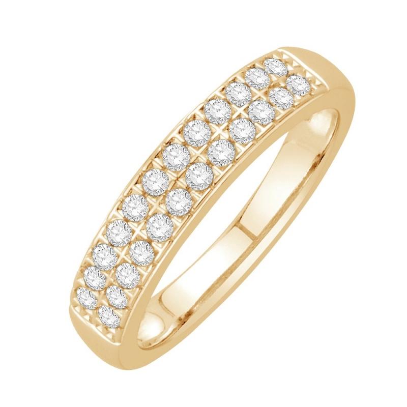 18k Yellow Gold Diamond Eternity ring , Shiraz
