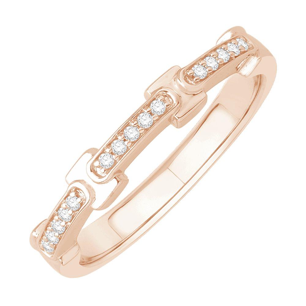 layla bague alliance or rose et diamants diveene joaillerie