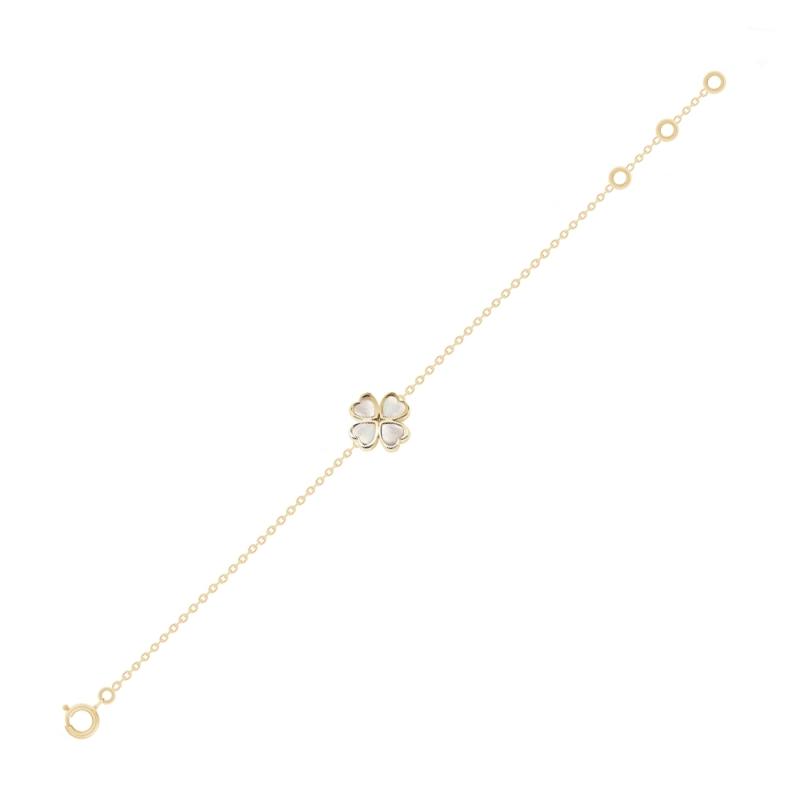 Bracelet en or, Nacre blanche naturelle, Lucky Star