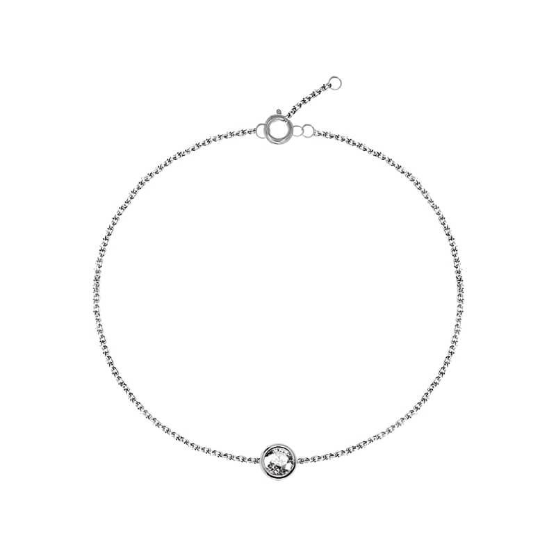 Bracelet en argent, cristal Swarovski , Diveene Lady
