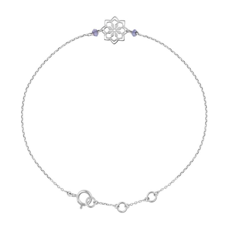 Bracelet Argent, Iolite , Doria