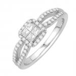 madison bague or blanc et diamants bague fiançailles mariage diveene joaillerie