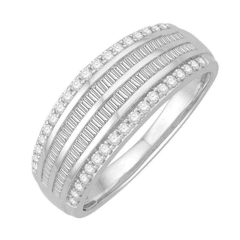 18k White Gold Diamond Ring , Henora
