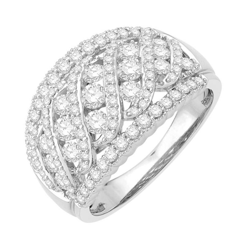 18k White Gold Diamond Ring , Sunset Boulevard