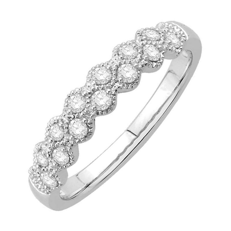 18k White Gold Diamond Ring , Carioca