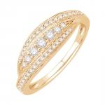scarlett bague or jaune diamants bague fiançailles mariage diveene joaillerie