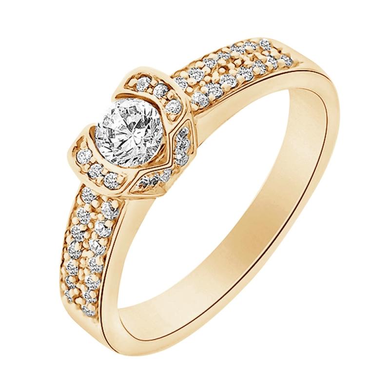 18k Yellow Gold Diamond Ring , Farouche