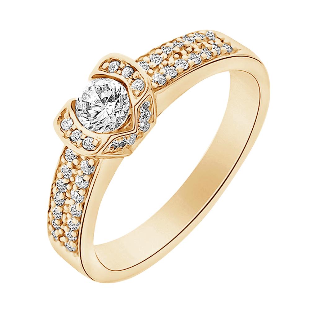 farouche bague or jaune diamants bague fiançailles mariage diveene joaillerie