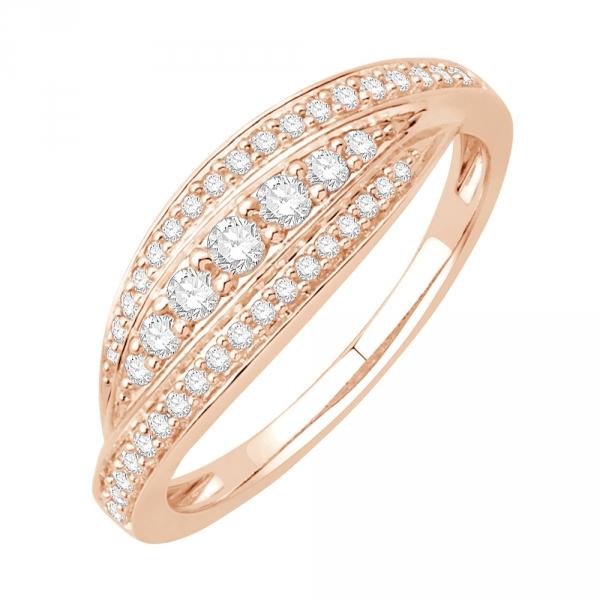 scarlett bague or rose diamants bague fiançailles mariage diveene joaillerie