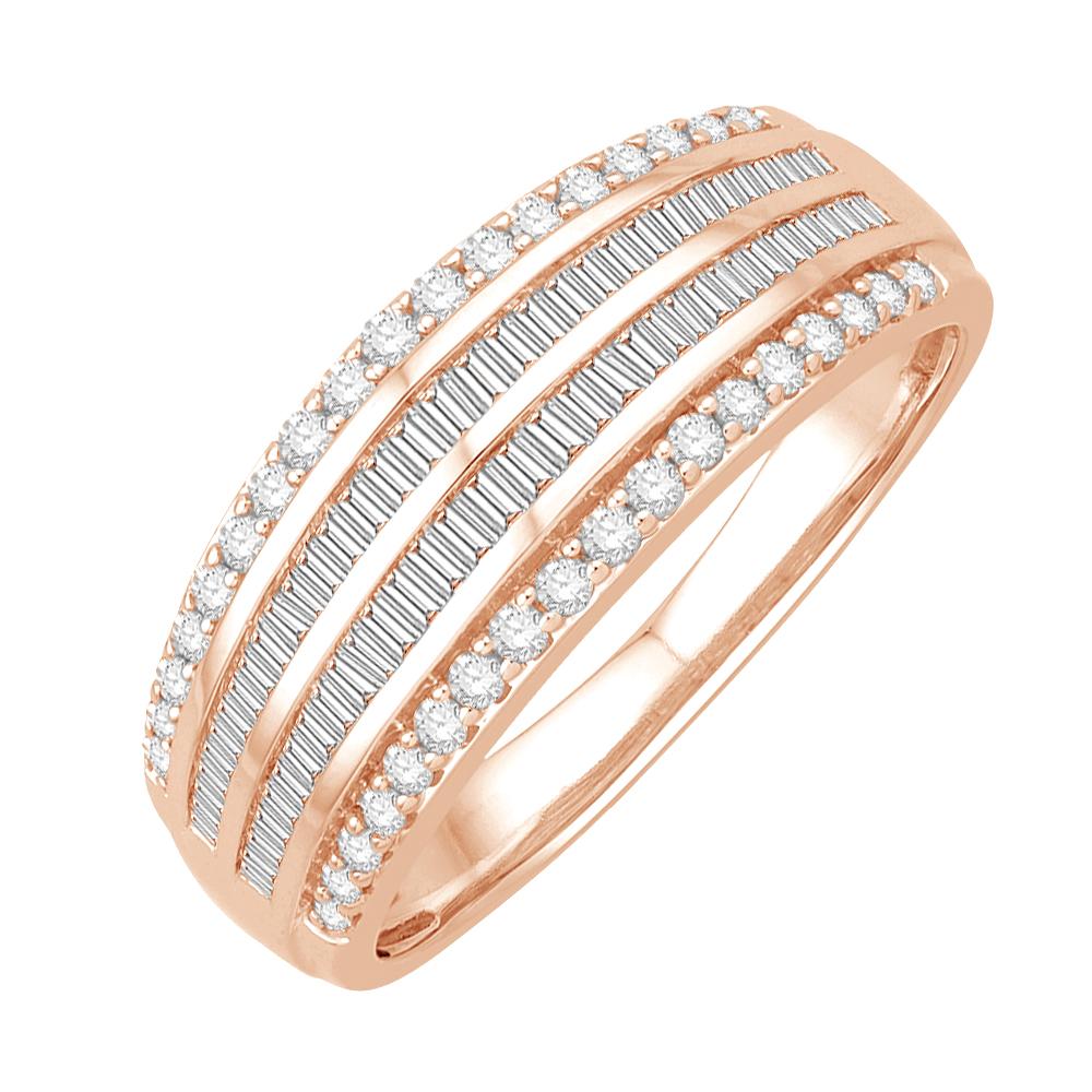 henora bague or rose diamants bague fiançailles mariage diveene joaillerie