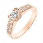 farouche bague or rose diamants bague fiançailles mariage diveene joaillerie
