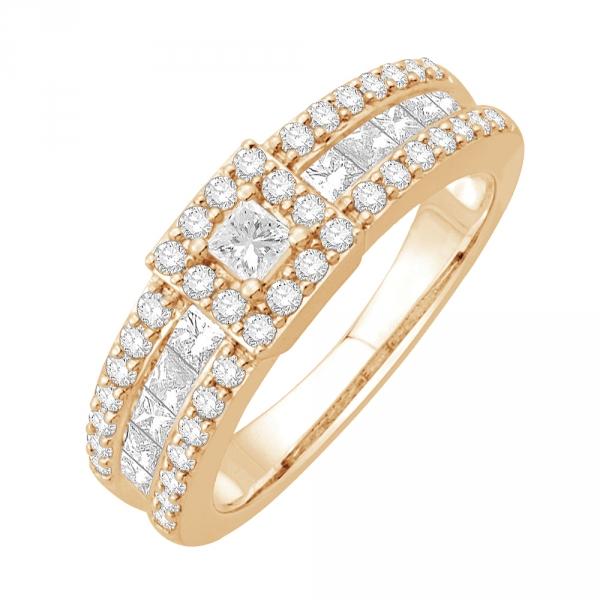 shirley bague or jaune diamants bague fiançailles mariage diveene joaillerie