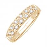 galia bague alliance or jaune et diamants diveene joaillerie