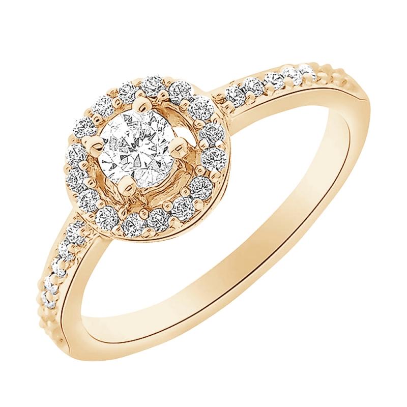 18k Yellow Gold Diamond Ring , Neysla