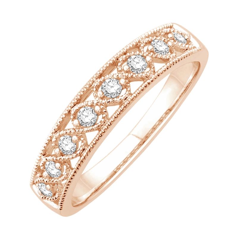 Bague or rose, Diamants , Ciana