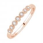 ellis bague alliance or rose et diamants diveene joaillerie