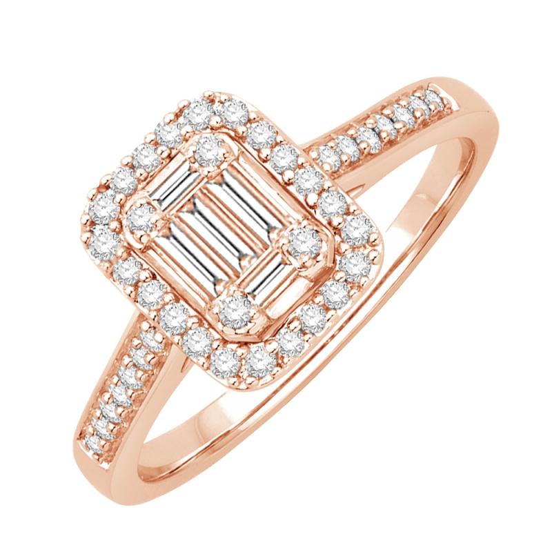 18k Rose Gold Diamond Ring , Dolores
