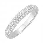 joyce bague alliance or blanc et diamants diveene joaillerie