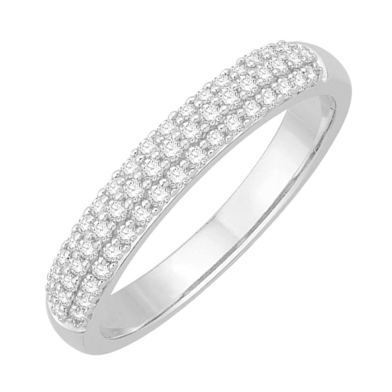 Bague alliance or blanc, Diamants , Joyce