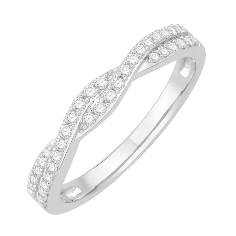 18k White Gold Diamond Eternity ring , Twisted