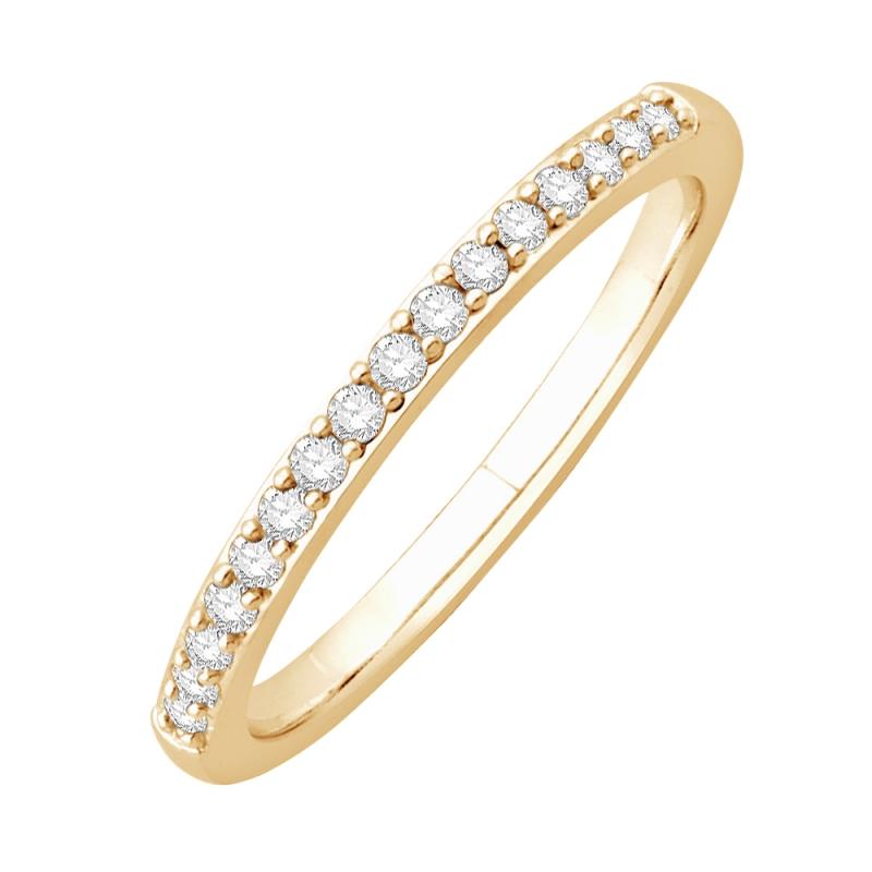 Bague alliance or jaune, Diamants , Matilda
