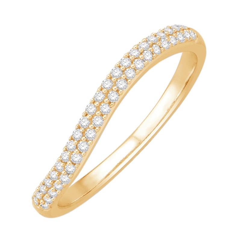 Bague alliance or jaune, Diamants , Betty