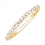 kim bague alliance or jaune et diamants diveene joaillerie