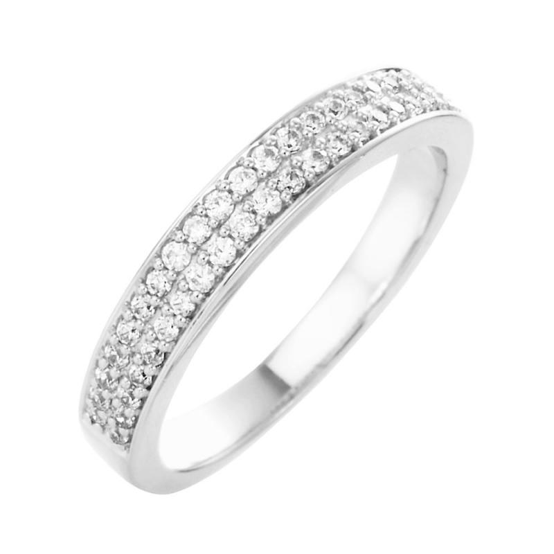 Bague alliance or blanc, Diamants , Faustine