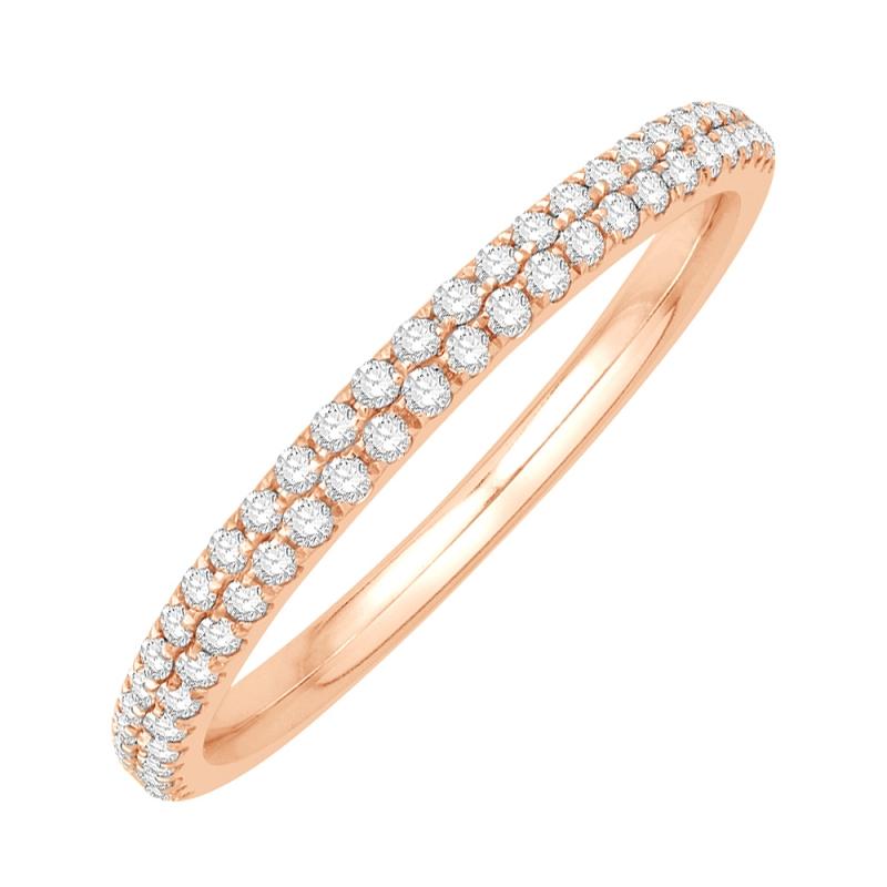 18k Rose Gold Diamond Eternity ring , Joia