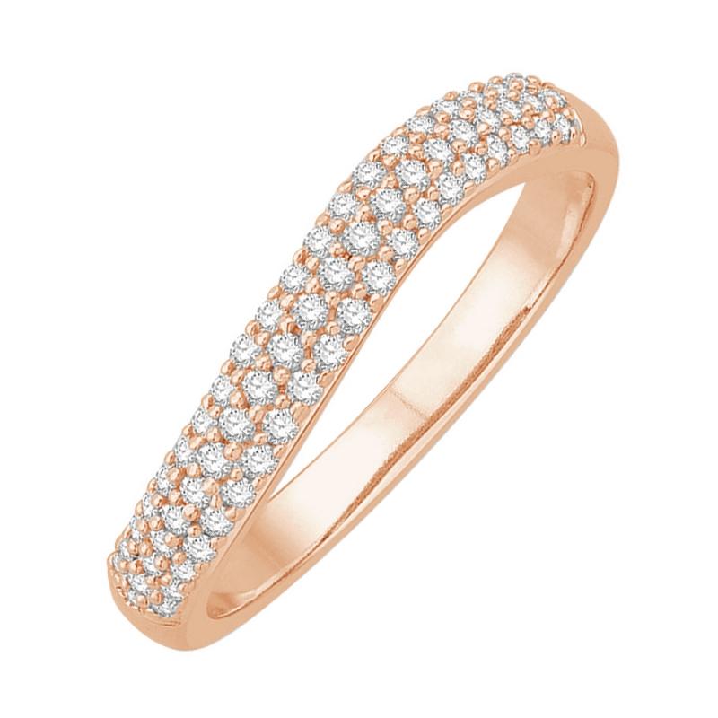 Bague alliance or rose, Diamants , Amanda