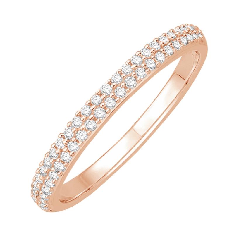 Bague alliance or rose, Diamants , Paulina