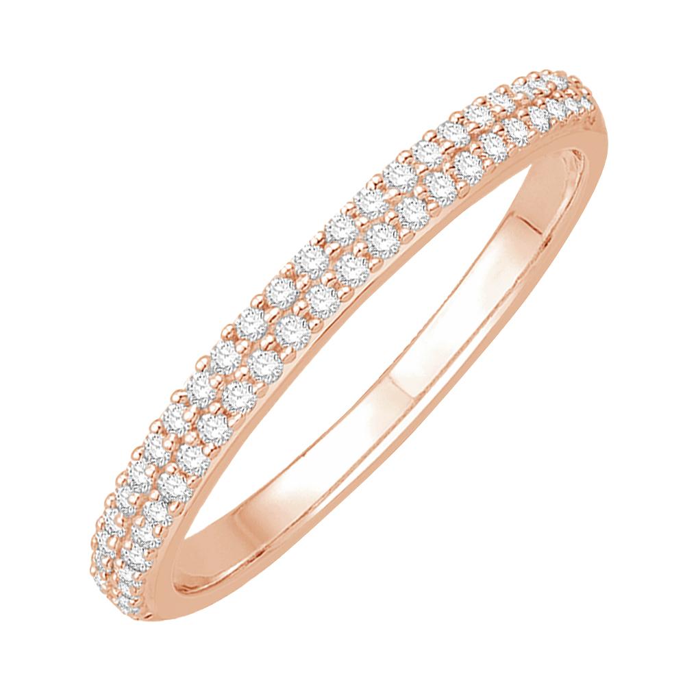 paulina bague alliance or rose et diamants diveene joaillerie