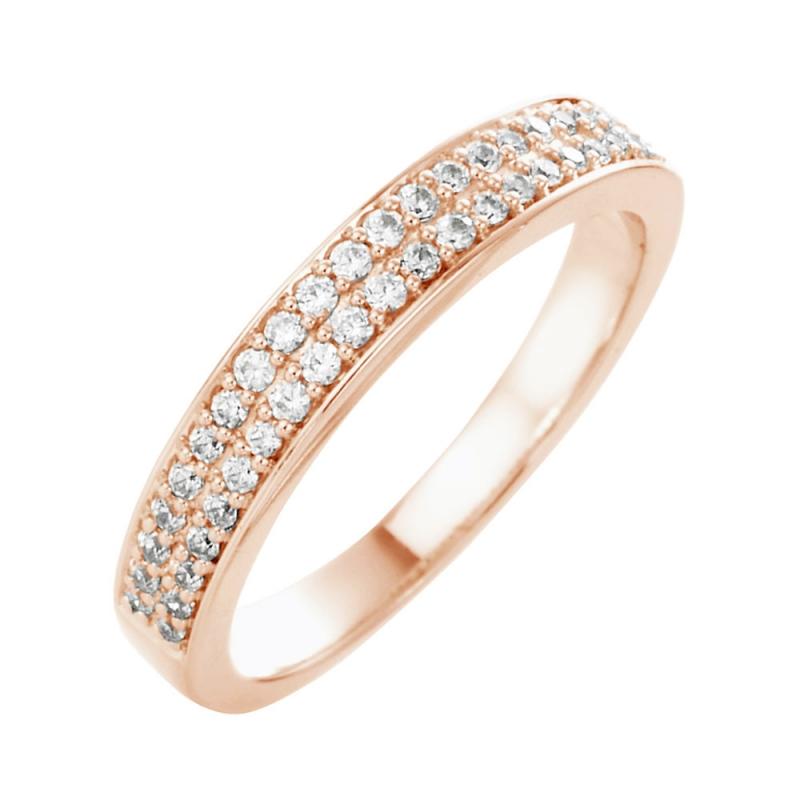 18k Rose Gold Diamond Eternity ring , Faustine