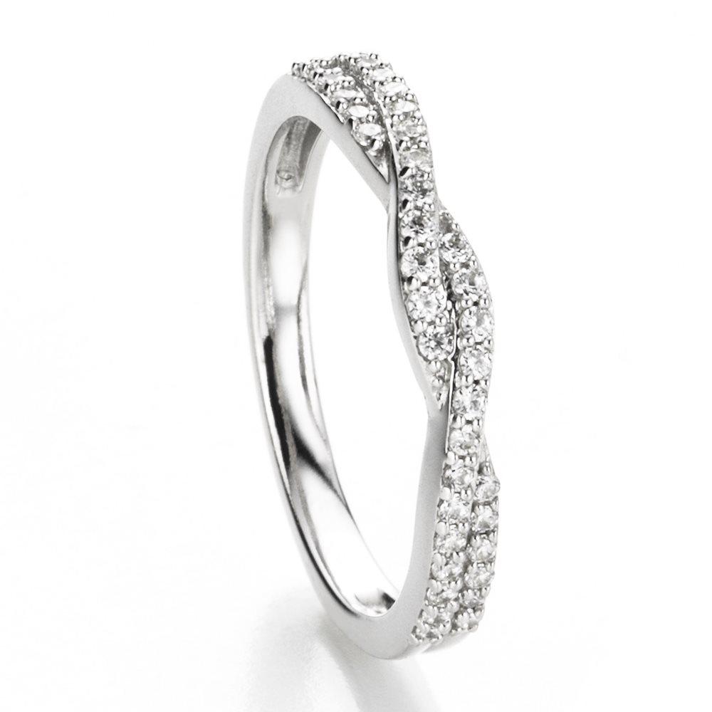 twisted bague alliance or blanc et diamants diveene joaillerie