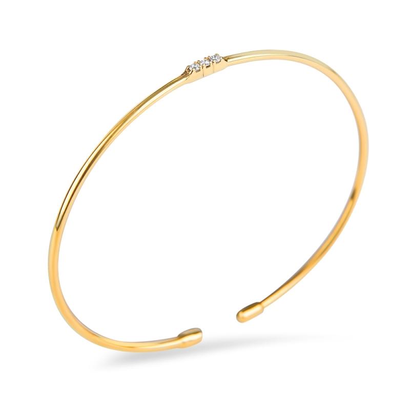 Bracelet vermeil jaune, Diamant , Lovely