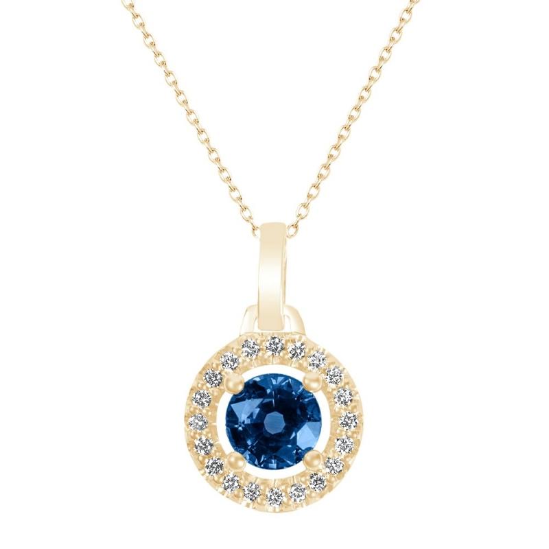 Collier or jaune, Saphir et Diamants , Cap d'Eden