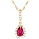 Daphné - Collier or diamants et rubis