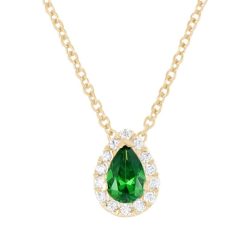 Collier en or, Emeraude et Diamants , Gaïa