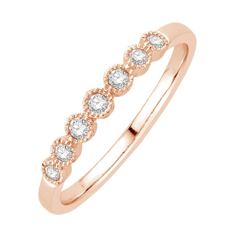 9k Rose Gold Diamond Eternity ring, Ellis